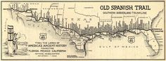 Old Spanish Trail map of 1929 highway route across the southern USA connecting San Diego, CA to St. Augustine, FL .... completed in 1929, was 2,743 miles long, USA