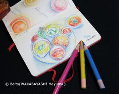 2013_11_25_simauma_01_s  My lunch!  for this drawing I used: Faber castell polychromos Moleskine sketchbook  © Belta(WAKABAYASHI Mayumi )