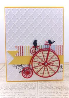 Memory Box dies...Vintage Bicycle 98484, Resting Birds 98527 from the Starlit Studios blog