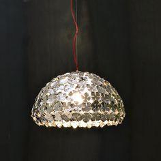 Terzani - Ortenzia Halbkugel Pendelleuchte  - nickel/glänzend/Ø50cm