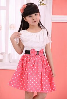 Cheap girls dress, Buy Quality baby girl dress directly from China girls dress summer Suppliers: baby girls dress summer dresses Baby Kids Children's Lovely princess Two Tones Splicing Polka Dots Dress Summer Dresses Online, Cute Summer Dresses, Little Dresses, Girls Dresses, Dress Online, Baby Girl Fashion, Fashion Kids, Cotton Frocks, Kind Mode