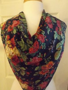 Beautiful Echo Club 7 Large Floral Scarf by MainelyScarves on Etsy