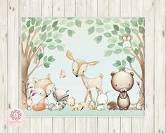 Here you will find a huge variety of baby and kids nursery wall art, printable and printed. Kids Room Wall Art, Nursery Wall Art, Girl Nursery, Woodland Animal Nursery, Woodland Animals, Nursery Prints, Wall Art Prints, Pink Forest, Art Inspiration Drawing