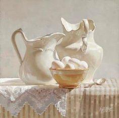 Egon Schiele. still life white on white