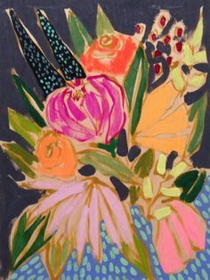 Flowers for Carson, 9x12, by Lulie Wallace