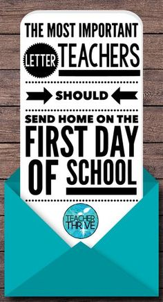 This one letter will set the tone for the rest of the year with your students' parents.