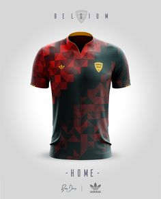 National Jerseys Concepts on Behance Sport Shirt Design, Sports Jersey Design, Sport T Shirt, Soccer Uniforms, Polo T Shirts, Football Shirts, Badminton Shirt, Soccer Inspiration, Retro Football
