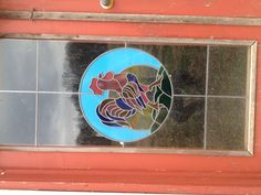 The doors to our chicken coop were decorated with a stained glass overlay. Made by me!