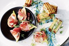 A sure-fire party pleaser, with the figs, prosciutto and smooth creme fraiche.