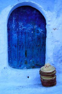 Morocco, Rif region, Chefchaouen, the blue town