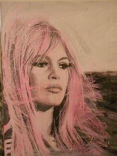 """Soo pretty...Saatchi Online Artist Ioanna Efthimiou; Painting, """"''Pink Brigitte'' no1"""" #art"""