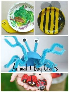 Animal and Bug Crafts for Kids ~ lots of fun craft inspiration