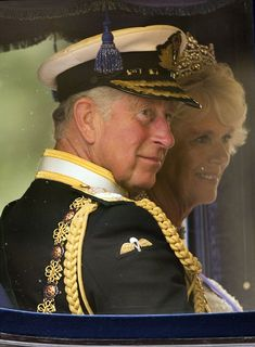 Charles and Camilla leave Buckingham Palace en route to the Palace of Westminster for the State Opening of Parliament 8 May 2013 Royal Prince, Prince And Princess, Prince Of Wales, Lady Diana Spencer, Charles X, Camilla Duchess Of Cornwall, Royal Uk, Camilla Parker Bowles, Hm The Queen