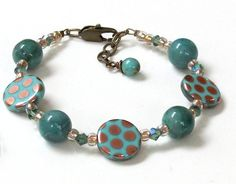 Bronzie dots bracelet - addiebeads.com