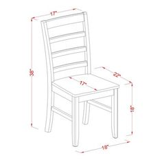 Darby Home Co Attamore 5 Piece Dining Set Finish: Black / Cherry Woodworking Furniture, Furniture Plans, Diy Furniture, Solid Wood Dining Chairs, Dining Table In Kitchen, Sala Set Design, White Wooden Rocking Chair, Wooden Chair Plans, Wood Chair Design
