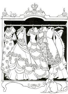 #ColoringPages #Fashion #Dresses #Doodles