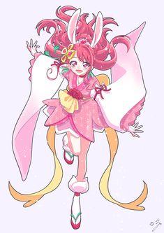 Pretty Cure, Sailor Moon, Glitter Force, Glitter Girl, Bridal Hair Pins, Manga Girl, Magical Girl, Cute Art, Art Reference