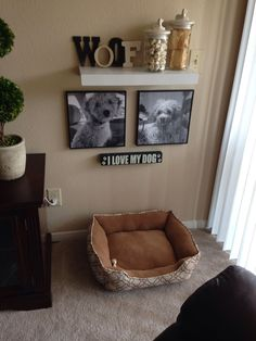 own DIY pet corner! My puppy has his own space now in our home! Poster B&W pr My own DIY pet corner! My puppy has his own space now in our home! Poster B&W pr.My own DIY pet corner! My puppy has his own space now in our home! Poster B&W pr. Animal Room, Puppy Room, Pet Corner, Dog Spaces, Small Spaces, Niches, Dog Rooms, Dog Houses, Diy Stuffed Animals
