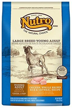 NUTRO Large Breed Young Adult Chicken, Whole Brown Rice and Oatmeal Dog Food, 30 lbs. * Read more @