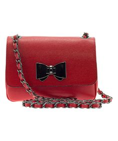 Look at this Red Bow Leather Shoulder Bag on #zulily today!