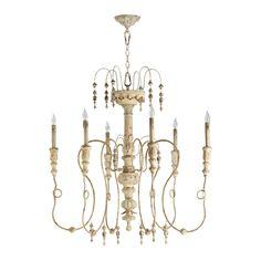 Six Light Chandelier $554