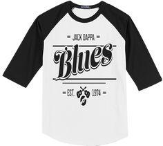 Jack Dappa Blues Sports Tees Printed on Sport-Tek Raglan Cotton Delta Blues, Tees, Mens Tops, T Shirt, Black, Fashion, Supreme T Shirt, Moda, T Shirts