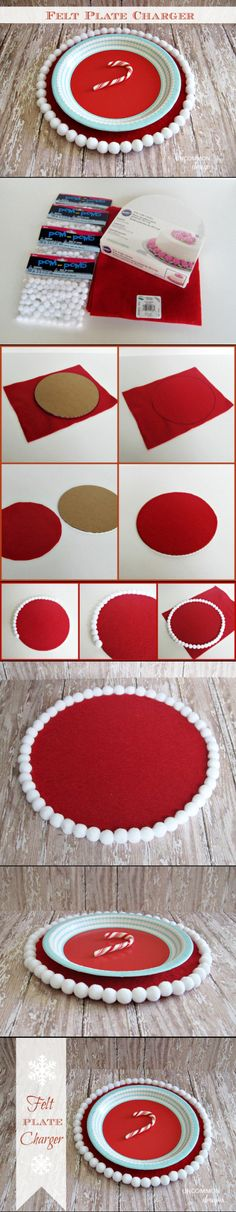 Pinned onto For Christmas Board in DIY Crafts Category All Things Christmas, Christmas Time, Christmas Crafts, Christmas Decorations, Holiday Decor, Christmas Ideas, Xmas, Charger Plates, Plate Chargers