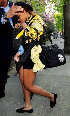 pricey pampers: Beyonce sports a $559 diaper bag!