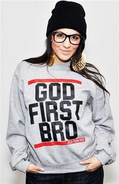 GOD FIRST BRO-OXFORD