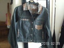 BB Jeans - Ladies Denim Jacket With Tartan - Worn, but in Excel Cond.