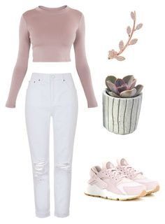 """Untitled #40"" by sohaila-el-m on Polyvore featuring Topshop, BLQ BASIQ, Humble Chic and NIKE"