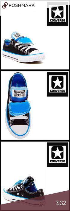 CONVERSE SNEAKERS Stylish Classic Oxfords CONVERSE SNEAKERS Stylish Classic Oxfords   COLOR: Black-Blue-White ABOUT THIS ITEM * Round cap toe * Lace-up closure * Canvas upper * Striped Midsole, double tongue, & contrast topstitching  MATERIAL Textile upper, manmade sole Item#  ❌NO TRADES❌ ✅BUNDLE DISCOUNTS✅ OFFERS CONSIDERED (Via the offer button only)   SEARCH WORDS # Little boys kids Chuck Taylor All Star Preppy Converse Shoes Baby & Walker