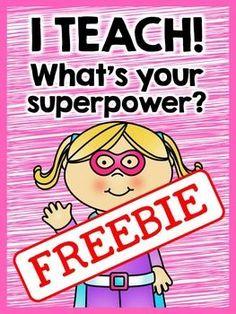 FREE Superhero Posters