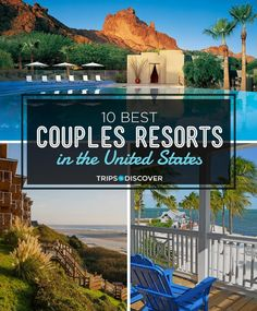 10 Best Couples Resorts in the United States If youre looking for a romantic getaway that includes a stay at a spectacular resort youre sure to find an ideal pick among this list of romantic resorts in the United States. Romantic Resorts, Romantic Vacations, Romantic Travel, Romantic Weekend Getaways, Couples Weekend Getaway Ideas, Vacation Ideas, Vacation Games, Vacation Trips, Vacations In The Us