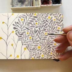 Art Journal Inspiration Love 28 Ideas For 2019 Watercolour Painting, Painting & Drawing, Watercolors, Watercolor Pattern, Watercolor Flowers, Watercolor Sketchbook, Painting Inspiration, Art Inspo, Journal Inspiration