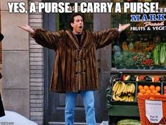 After Jerry's European carry-all is stolen, a cop asks if it's a purse...
