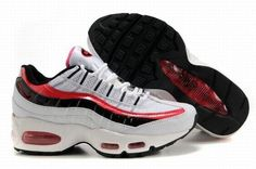 the best attitude 6b061 6ffc6 Nike Air Max 95 Women s Shoes White Red Black as you see.That s a big