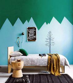 chambre enfant - déco de mur colorée - facile et bluffante -