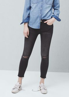 Crop skinny isa jeans - Jeans for Women   MANGO USA