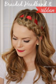 Dutch Braided Headband with a Ribbon