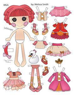 Miss Missy Paper Dolls: Tippy Tumbelina