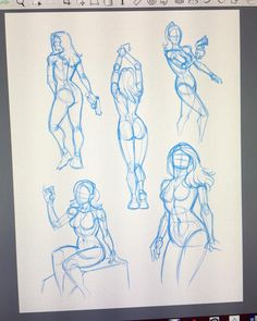 """20 Likes, 1 Comments - Kyle Petchock (@kpetchock_art) on Instagram: """"Warming up with some female figure quick sketches. Drawing women has been giving me some trouble…"""""""
