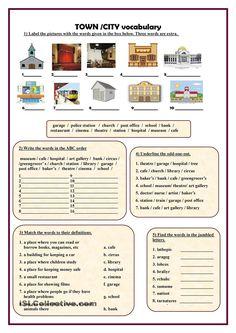 Town/City vocabulary