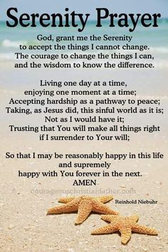 I share the Serenity Prayer with you. This prayer is common prayer for Celebrate Recovery, 12 Step Programs, and AA. Plus it is on the Christian faith-based Movie, Home Run. Prayer Verses, Bible Prayers, Faith Prayer, Prayer Quotes, My Prayer, Bible Quotes, Bible Verses, Scriptures, Prayer Of The Day