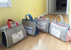 I made some totes. #MakersTote 1 for me, and 3 gifts. Great pattern from Noodlehead @noodlehead531 I made a few small adjustments towards the end...will blog it later this week.
