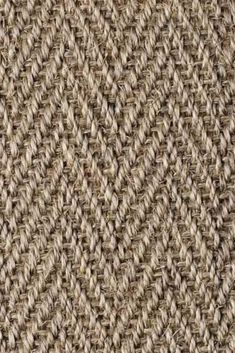 Sisal Herringbone Hambledon natural fibre flooring is versatile and also available in widths. Hall Carpet, Carpet Stairs, Home Depot Carpet, Alternative Flooring, Sisal Carpet, Natural Weave, Natural Flooring, Natural Carpet, Floor Texture
