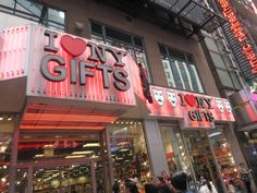 New York City gift shop (I love NY) in Times Square. #NYC #Manhattan