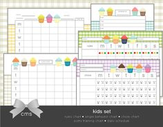 Pretty adorable printable sets for all areas of a household making all this adult responsibility stuff more easy and fun!