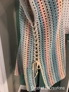 Tied Cover Up Crochet Pattern - Crochet it Creations