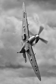 Spitfire during WWII Battle of Britain.